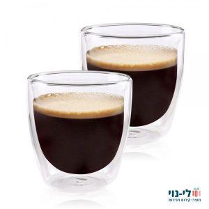 כוסות אספרסו דופן כפולה