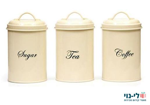 סט תה קפה סוכר קרם