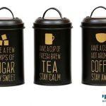 סט תה קפה סוכר שחור