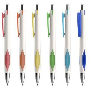 עט פסים לבן